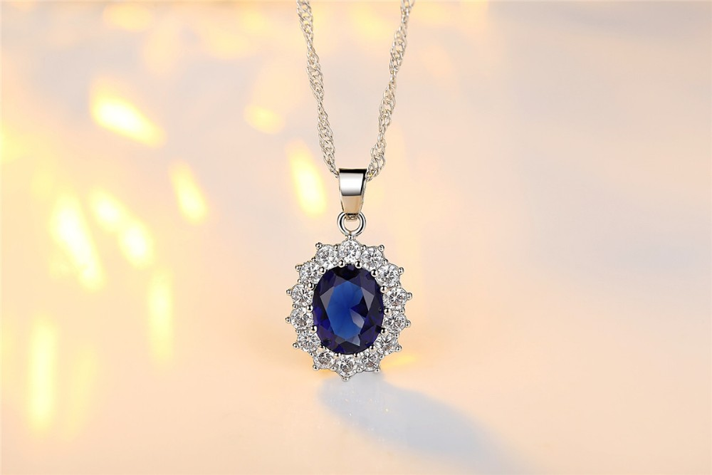 zircon blue heart wholesale dark necklace product statement classic ocean sapphire titanic woman chain diamond saphire pendant crystal jewelry